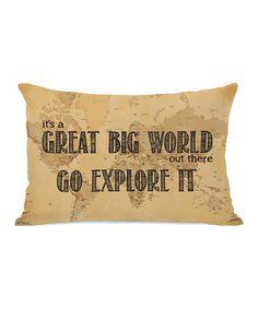 Look what I found on #zulily! 'Great Big World' Map Throw Pillow #zulilyfinds