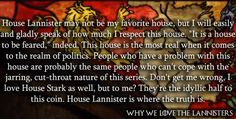 Why we love the lannisters :D<< I love House Lannister so much