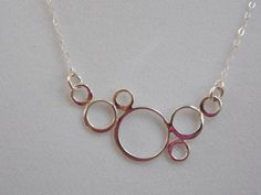 Sterling Silver Necklace with Circle Geometric by MalieCreations