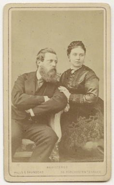 Frederick III, Emperor of Germany and King of Prussia and his wife Victoria, daughter of Queen Victoria By Hills & Saunders Albumen carte-de-visite, circa 1870