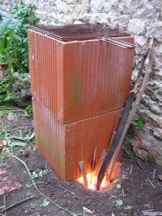 Rocket stove grill
