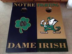 Notre Dame Bean Bag Boards, Custom Cornhole, 4' with led hole lights  on Etsy, $225.00