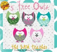 Five Little Owls: FREE Clip Art!! Love These!!!