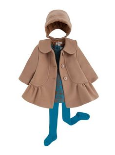 classic style with interest, minimal buttons  Cóndor rebajas, conjuntos de ropa a buen precio Childrens Coats, Kids Coats, Kids Clothing Brands, Baby Coat, Baby Kind, Cute Outfits For Kids, Baby Kids Clothes, Little Girl Dresses, Kids Wear