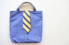 Turn a Men's Shirt/Tie into a Tote (aka: little boy church bag)