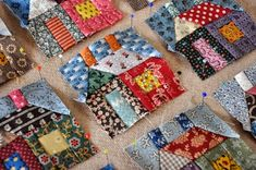 tiny houses quilt in progress- here choosing layout...