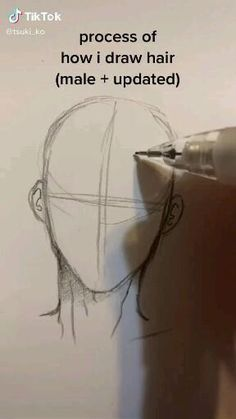 Art Drawings Sketches Simple, Pencil Art Drawings, Drawing Hair Tutorial, Drawing Tips, Drawing Male Hair, Drawing Ideas, How To Draw Hair, Learn To Draw Anime, Digital Art Tutorial