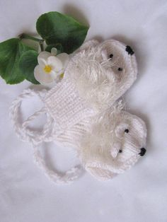 Hedgehog mittens for a 6-12 months 1-3 years 3-5 years by Spillija