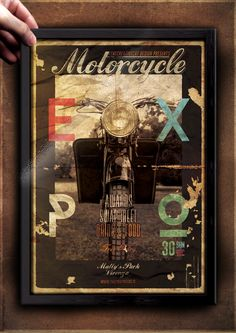 """The Flyer Poster Templates """"Vintage Motorcycle Vol. 12"""" You'll find it on my website www.thecreativecat.it"""