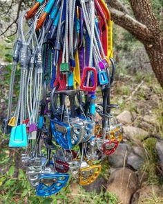 Taste the rainbow | Photo: @t__klein #climbing #rockclimbing #climbinggear #tradisrad #tradgear #gearstoke #weighmyrack