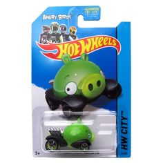 Angry Birds Minion Pig '14 Hot Wheels 81/250 (Green) Vehicle Hot Wheels http://www.amazon.com/dp/B00GWTVXZE/ref=cm_sw_r_pi_dp_uG47vb085XRFT