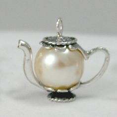 Large Cream Pearl (14mm) - modern - by Tiny Teapot Jewelry