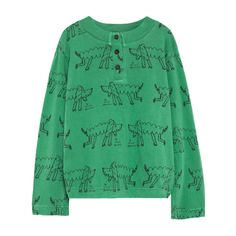 The Animals Observatory Poodle Whistler Henley Neck Shirt-product
