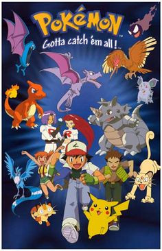 Pokemon Gotta Catch 'Em All Pikachu Ash Anime Poster 11x17