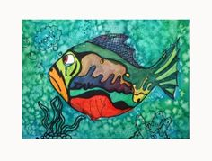 Watercolor Fish (with salty water)