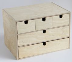 Ikea Fira Birch Wooden Storage Chest Box with 5 Drawers Wood Desktop Organizer  #ikea