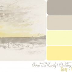 Absolutely love this color combo. Have been looking at greys and yellows for a while now and absolutely LOVE them together!
