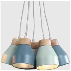 Albert Cluster Pendant Lamp, Muted Grey, Dusk Blue and Duck Egg from Made.com. Express delivery. Create a clean, pared back look with a cluster pend..