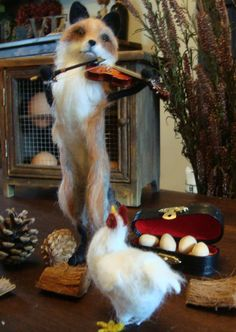 needle felted felt fox animal wildlife van TheHouseofFelts op Etsy, £150.00