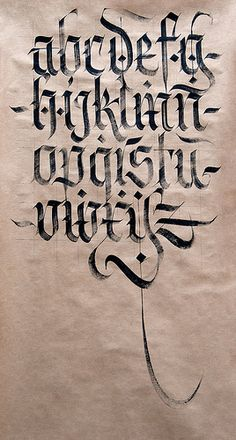 Fraktur minuscules. | da Syntax One
