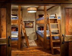 Whitefish Estate - rustic - Bedroom - Other Metro - Hunter and Company Interior Design