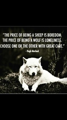I've always been a one man wolf pack, a lonewolf, a truthseeker, critical thinker, liberated with oneself. I prefer this way of life than running circles amongst herds of sheep, fakery and deception. Resulting in sadness. Learn to be your own best friend and truly love yourself and loneliness will dissipate and your internal happiness will start to manifest. ~ Ryza