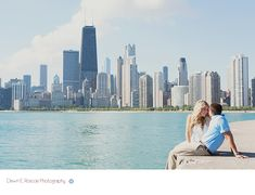 Skyline Chicago engagement session.