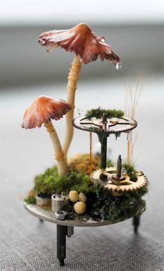120 easy to try diy polymer clay fairy garden ideas (45) #GardenIdeas