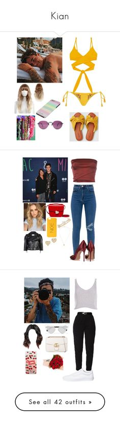 """Kian"" by joelene-garcia ❤ liked on Polyvore featuring Topshop, STELLA McCARTNEY, American Eagle Outfitters, Romeo Gigli, RED Valentino, Marni, Paloma Picasso, EF Collection, River Island and Yves Saint Laurent"