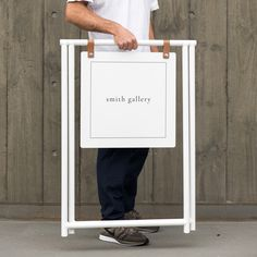 Attract the right type of attention. A simple and functional take on the traditional sandwich board, the Merchant Sign will help you stand… Sandwich Board Signs, Coming Soon Sign, A Frame Signs, Signwriting, Retail Space, Wooden Diy, Coffee Shop, Sandwiches, How To Apply
