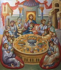 Married With Children, Byzantine Icons, Last Supper, Orthodox Icons, Ikon, Projects To Try, Painting, Beautiful Pictures, Pintura