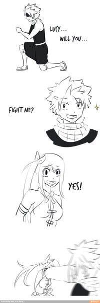 NaLu: Will you... Fight me?