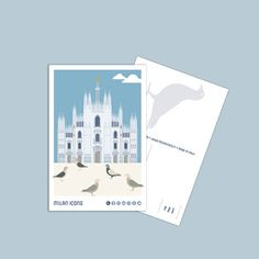 Milan Icons Postcard, DUOMO, piazza del Duomo, Milano Milan City, Polaroid Film, Icons, Album, Etsy, Symbols, Ikon, Card Book