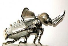 Dimitar Valchev- Mechanical insect sculptures