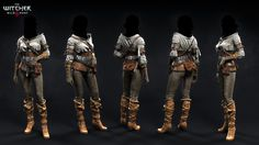 ArtStation - The Witcher III - NPC's outfits, Marcin Blaszczak