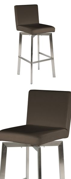 Take an elegant, modern hangout to new heights with the help of this stunning Danka Stool. With sturdy yet minimal reinforcements, the cozily padded deep brown upholstered seat appears to levitate abov...  Find the Danka Stool, as seen in the New Arrivals Collection at http://dotandbo.com/collections/new-arrivals-2?utm_source=pinterest&utm_medium=organic&db_sku=124373