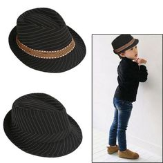 Boy girl #unisex #fedora hat kids contrast trim cool jazz trilby dance #travel ca,  View more on the LINK: http://www.zeppy.io/product/gb/2/112015041771/
