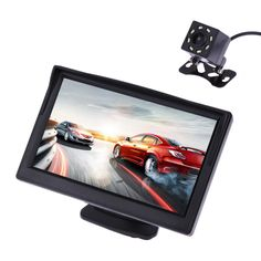 Universal 5 Inch TFT LCD Color Car Rear View Monitor Backup Reverse Camera VCD DVD With LED Backlight Display Water Proof