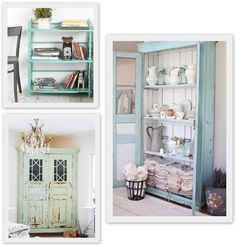 Fresh Greens   Blues: Painted Furniture