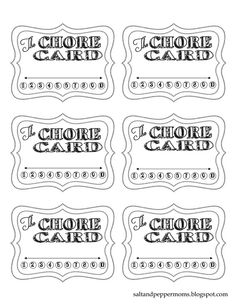 Punch cards, earn rewards when they have filled it up. Chore Cards, Behavior Plans, Kids Cards, Family Life, Games For Kids, 3, Kid Stuff, Punch, Organize