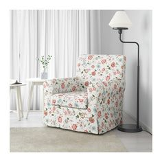 Floral armchair Width:78 cm Depth:85 cm Seat width:48 cm Seat depth:55 cm Seat height:43 cm Height:84 cm should be able to get one secondhand for under £50