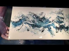(036) Flip and Drag Acrylic Pouring Airbrush - YouTube