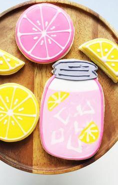 Pink Lemonade Decorated Sugar Cookies
