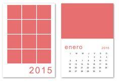 Una plantilla PSD del calendario 2015 listo para editar e imprimir en a5