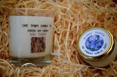 On The Way: 1 large, 1 small scented soy candle. The new eco friendly kid on the block, for a cleaner, cooler, slower burn. Soy Candles, Scented Candles, Slow Burn, Kids On The Block, Cape Town, Eco Friendly, Crafts, Manualidades, Handmade Crafts