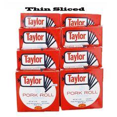 Taylor Ham/Taylor Pork Roll THIN Sliced – 8 Boxes |  [ JerseyPorkRoll.com ]