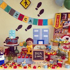 Festa detetives do prédio azul DPA - decoração mini mimo festas