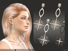 -4 colours Found in TSR Category 'Sims 4 Female Earrings'