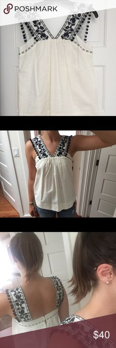 J. Crew Pom Pom top Super cute boho, summery top. I've only worn it once. J. Crew Tops Blouses