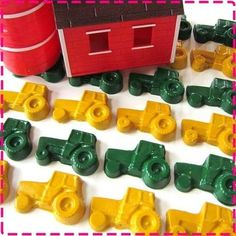 tractor themed education | tractor crayons / Preschool items - Juxtapost